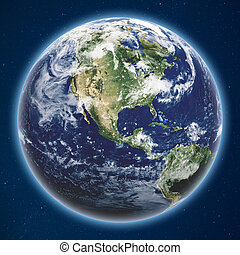 Planet Earth from space
