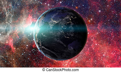 Planet Earth from the space. Elements of this image furnished by NASA