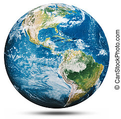 Planet Earth globe isolated