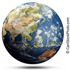 Planet Earth globe - South-East Asia