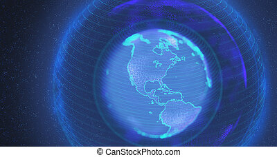 Planet Earth Holographic Image