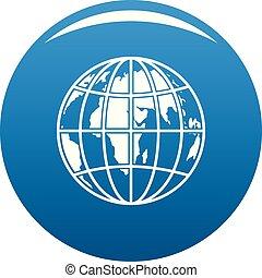 Planet earth icon blue vector
