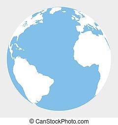 Planet Earth icon. flat design