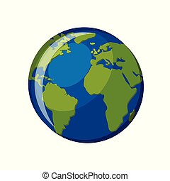 Planet Earth icon isolated on white background.