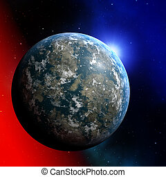 Planet earth illustration - Illustration of planet earth on...