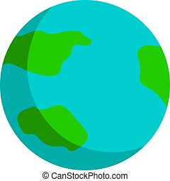 Planet earth, illustration, vector on white background.