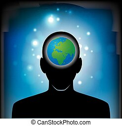 earth in human head