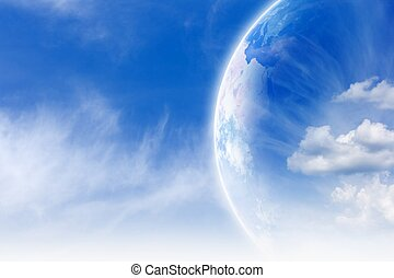 Planet Earth in sky