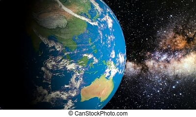 planet earth in space