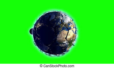 Planet Earth in the form of a ball in space, maps and...