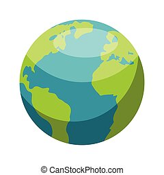 Planet Earth minimalistic vector illustration on white background