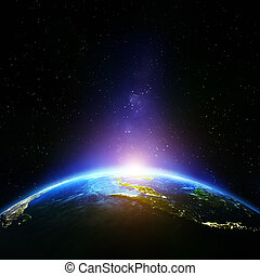 Planet Earth night. Elements of this image furnished by NASA