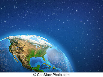 Planet Earth. North America from space.