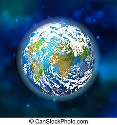 Planet earth on space background