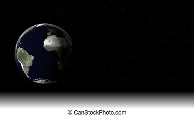planet earth on the black sky