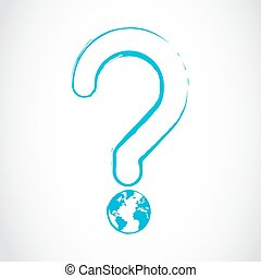 planet earth question mark concept