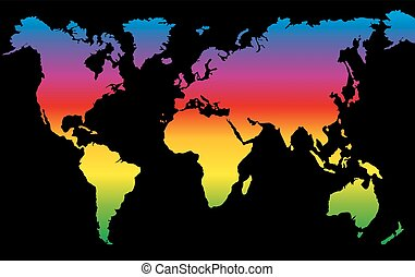 Planet Earth Rainbow Colored World