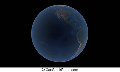 Planet earth rotates on a transparent background, 4k prores with alpha