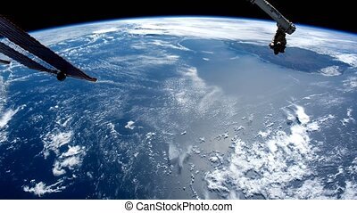 Planet Earth seen from space. Elements of this video furnished by NASA.