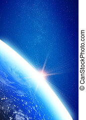 Planet Earth stratosphere. Elements of this image furnished...