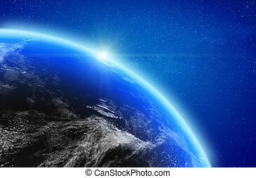 Planet Earth stratosphere. Elements of this image furnished ...