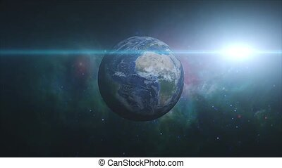 Planet Earth view from space HD
