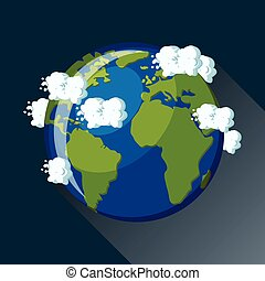 Creative abstract global communication scientific concept planet earth view from space icon gumiabroncs Choice Image