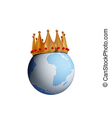 Planet Earth with a golden crown