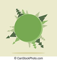 Planet Earth with Christmas trees