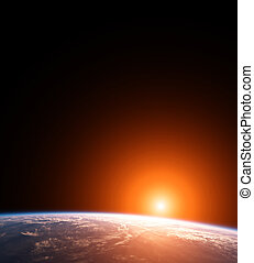 Planet Earth with Sun