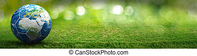 Planet Earth world football sport background