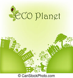 planet, ekologisk, grön