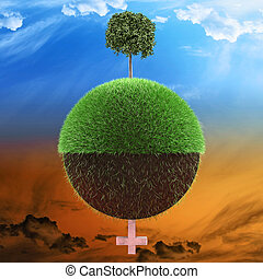 Planet environment concept