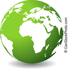 planet, grön, ikon