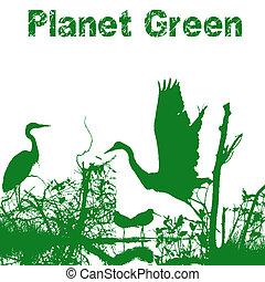 planet, grün, natur