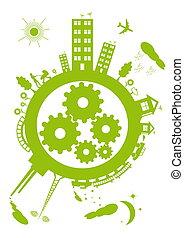planet, grün