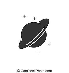 Planet icon flat