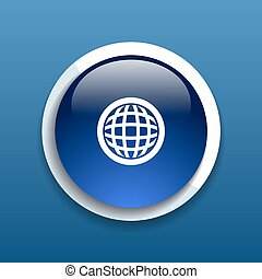 Planet icon network map earth business concept