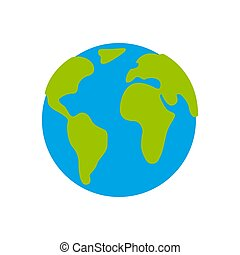 Planet icon on a white background. Vector illustration.
