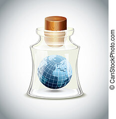 Planet In Bottle