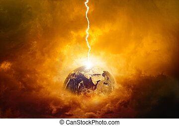Planet in danger - Scientific background - planet Earth in...