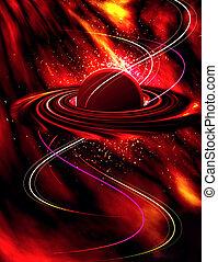 planet in fire
