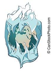 Planet in iceberg