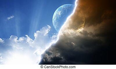 Planet in sky