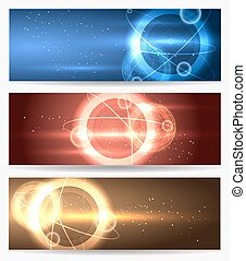 Planet in Space Banners set
