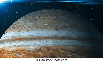 Planet Jupiter. 3d rendering digital background