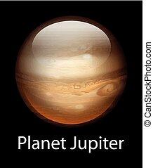 Planet Jupiter - Illustration of the planet Jupiter