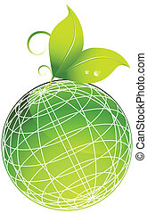 planet leaf isolated on a white background.