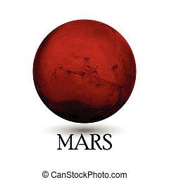 Planet Mars - Illustration of Planet Mars
