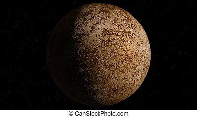 Planet Mercury - Beautiful 3d animation of Mercury planet...